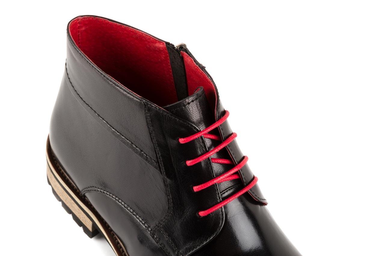 Trzewiki bayla-122 at229-1 black, czarny, skóra naturalna - obuwie wizytowe - dla niego - sale 11