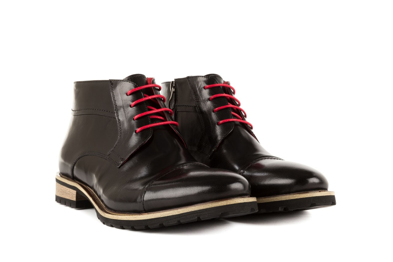Trzewiki bayla-122 at229-1 black, czarny, skóra naturalna - obuwie wizytowe - dla niego - sale 7