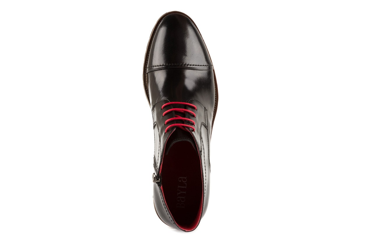 Trzewiki bayla-122 at229-1 black, czarny, skóra naturalna - obuwie wizytowe - dla niego - sale 10