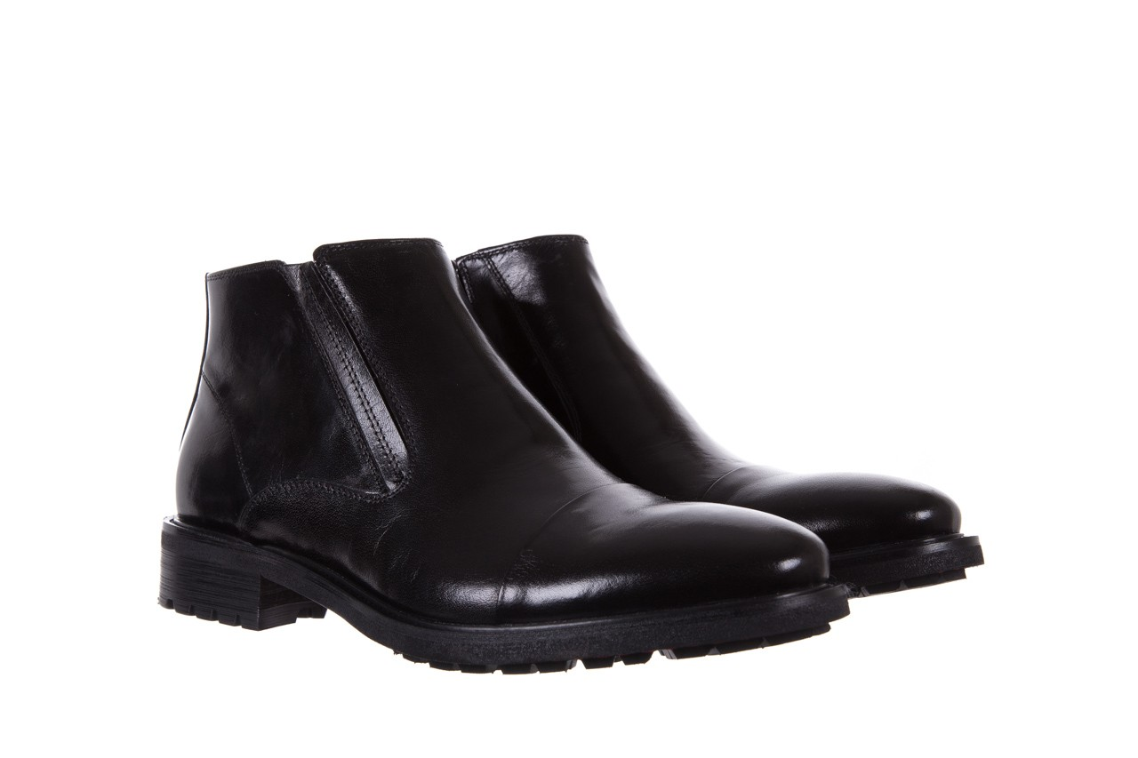 Trzewiki bayla-122 at229-6 black, czarny, skóra naturalna  - trzewiki - buty męskie - mężczyzna 8