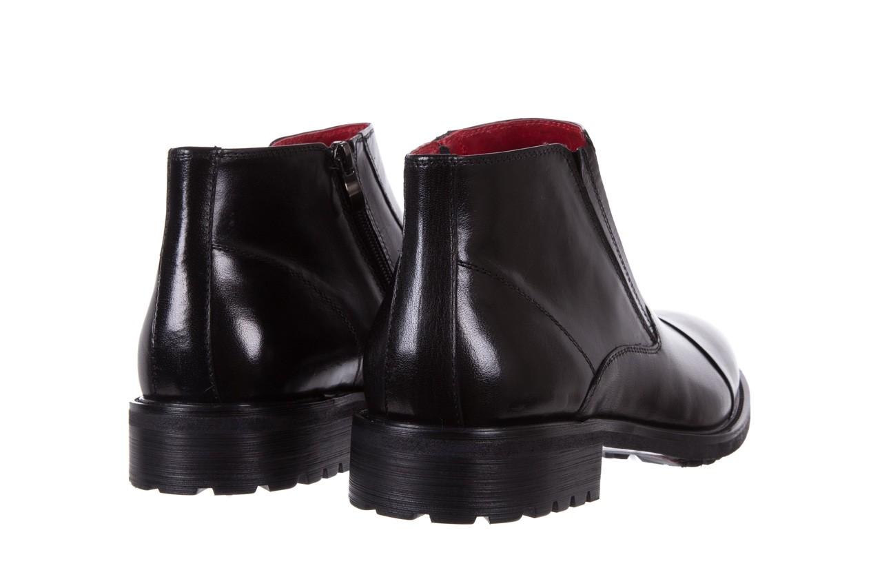 Trzewiki bayla-122 at229-6 black, czarny, skóra naturalna  - trzewiki - buty męskie - mężczyzna 10