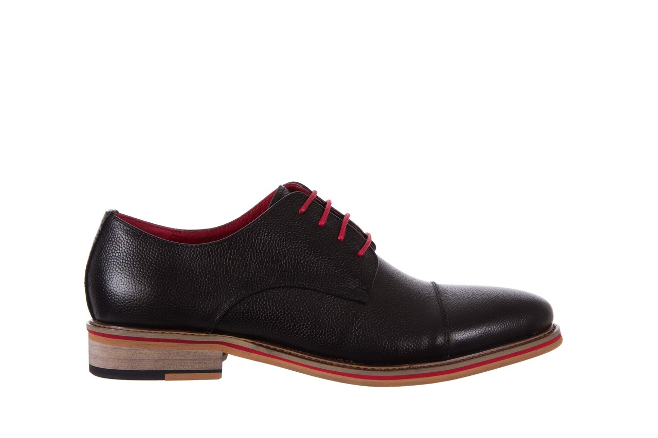 Półbuty bayla-122 at365-2 black, czarny, skóra naturalna  - obuwie wizytowe - buty męskie - mężczyzna 7