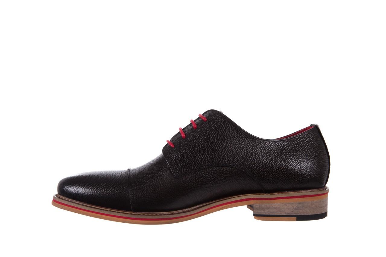 Półbuty bayla-122 at365-2 black, czarny, skóra naturalna  - obuwie wizytowe - buty męskie - mężczyzna 9