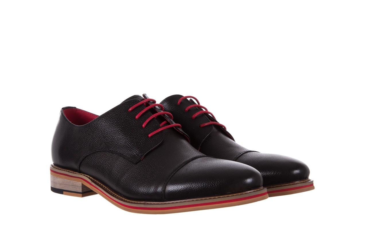 Półbuty bayla-122 at365-2 black, czarny, skóra naturalna  - obuwie wizytowe - buty męskie - mężczyzna 8