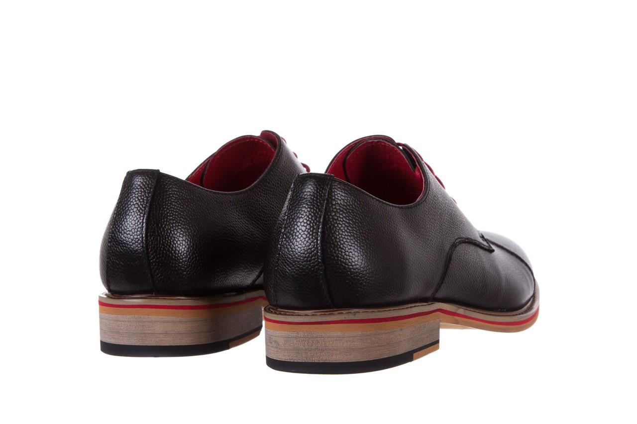Półbuty bayla-122 at365-2 black, czarny, skóra naturalna  - obuwie wizytowe - buty męskie - mężczyzna 10