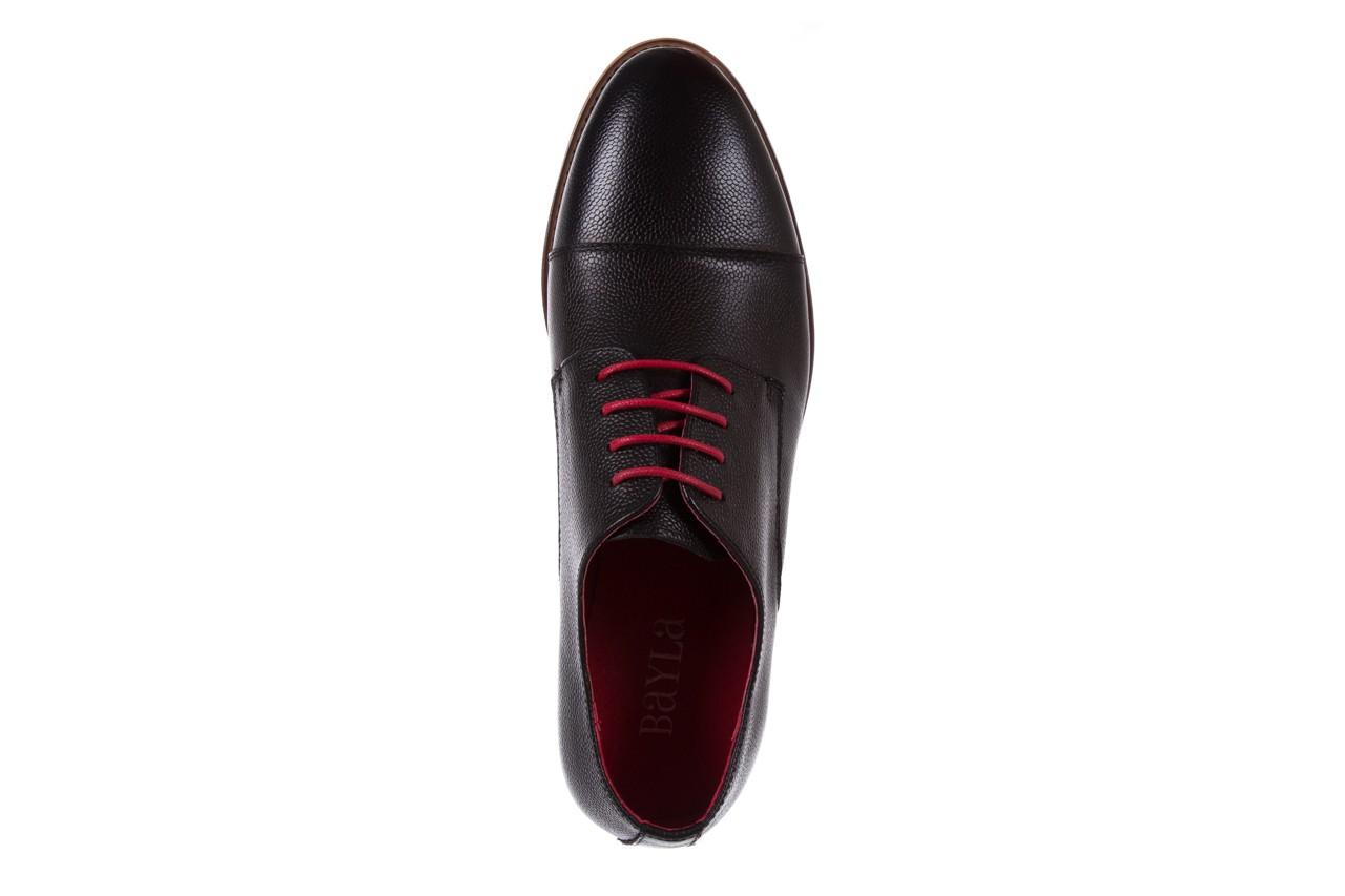 Półbuty bayla-122 at365-2 black, czarny, skóra naturalna  - obuwie wizytowe - buty męskie - mężczyzna 11
