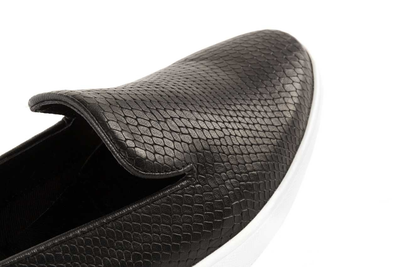 Trampki bayla-123 5500101-2 black snake, czarny, skóra naturalna - bayla - nasze marki 11