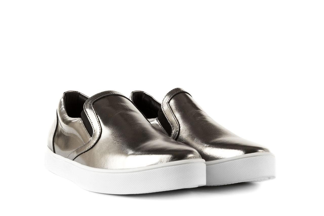 Trampki bayla-123 5500126 platinum, srebrny, skóra naturalna - bayla - nasze marki 7