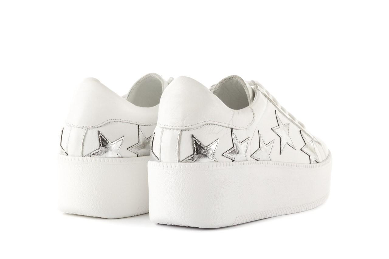 Trampki bayla-123 5502102 white, biały, skóra naturalna - skórzane - trampki - buty damskie - kobieta 9