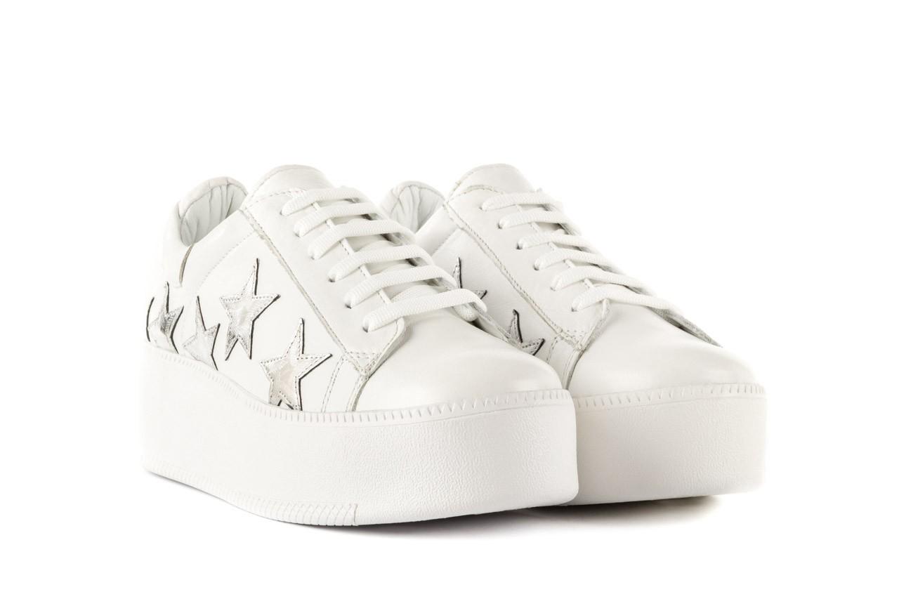 Trampki bayla-123 5502102 white, biały, skóra naturalna - skórzane - trampki - buty damskie - kobieta 7