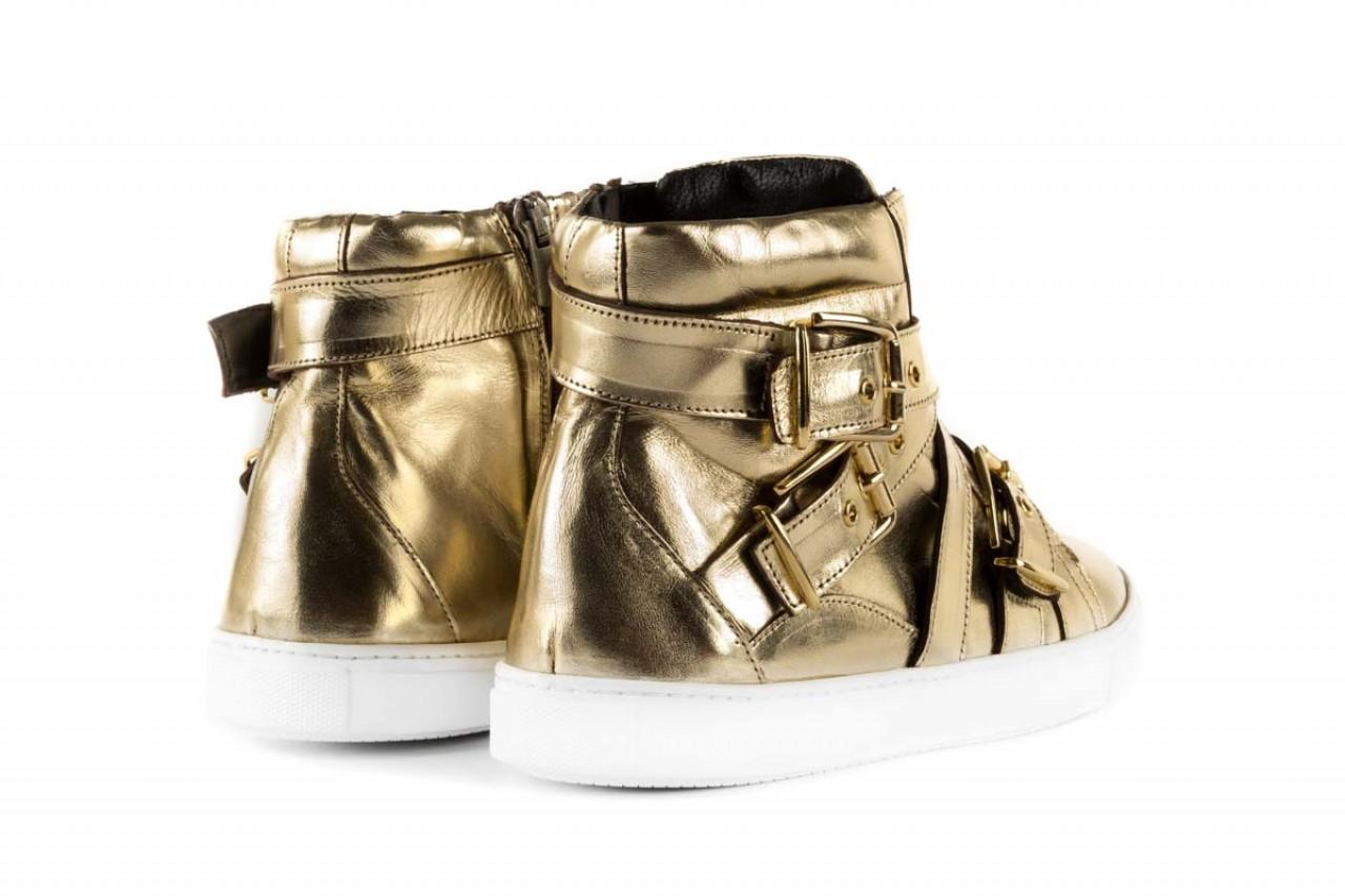 Trampki bayla-123 5901137 gold, złoty, skóra naturalna - wysokie - trampki - buty damskie - kobieta 8