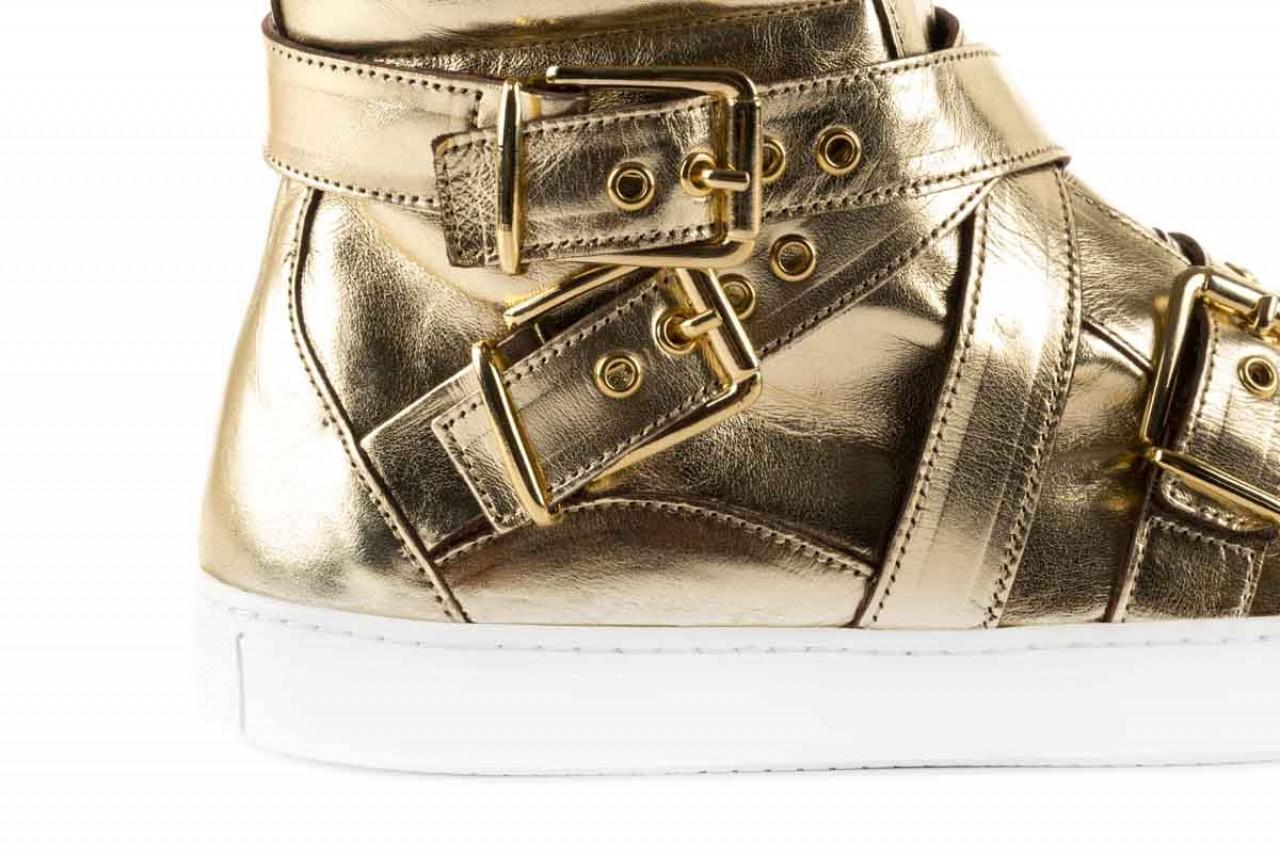 Trampki bayla-123 5901137 gold, złoty, skóra naturalna - wysokie - trampki - buty damskie - kobieta 9