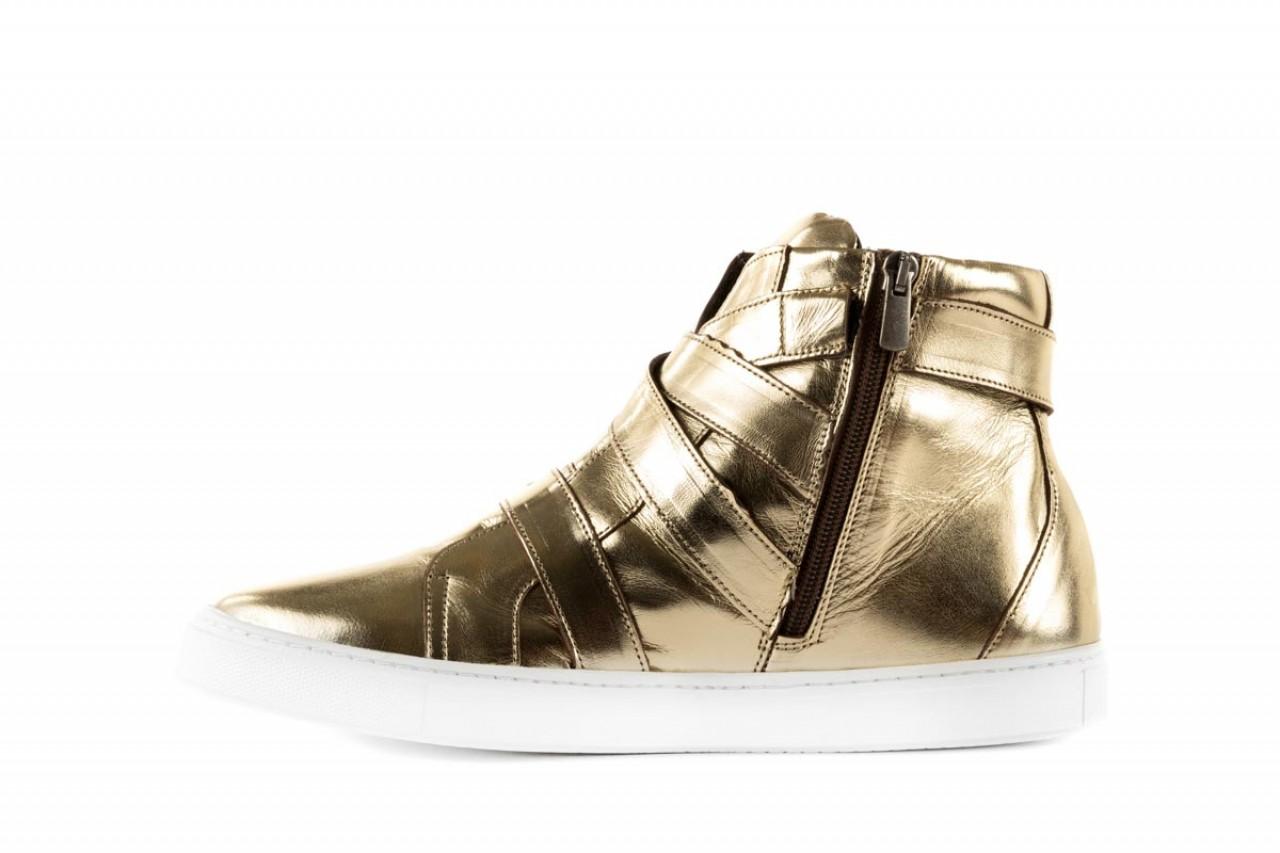 Trampki bayla-123 5901137 gold, złoty, skóra naturalna - wysokie - trampki - buty damskie - kobieta 7