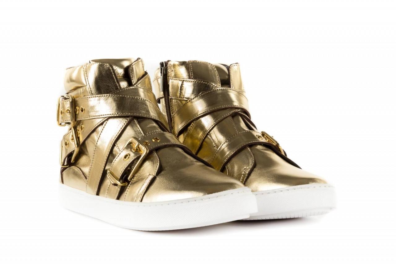 Trampki bayla-123 5901137 gold, złoty, skóra naturalna - wysokie - trampki - buty damskie - kobieta 6