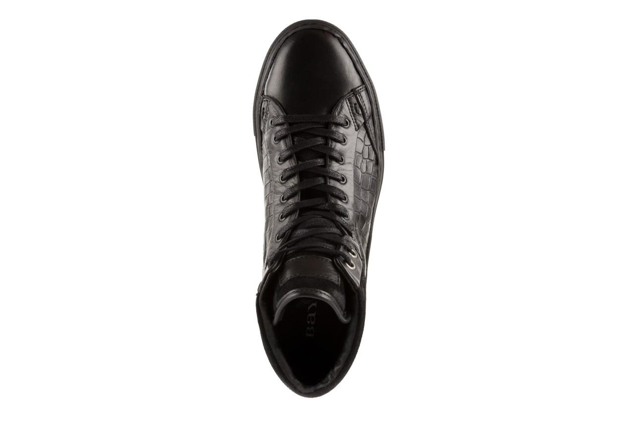 Trampki bayla-124 395 black, czarny, skóra naturalna - bayla - nasze marki 10