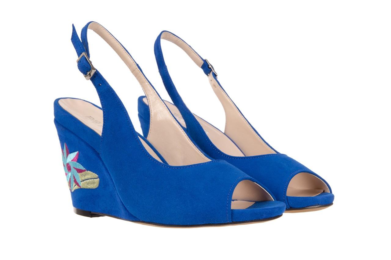 Sandały bayla-128 1995 956 niebieski, skóra naturalna  - bayla - nasze marki 7