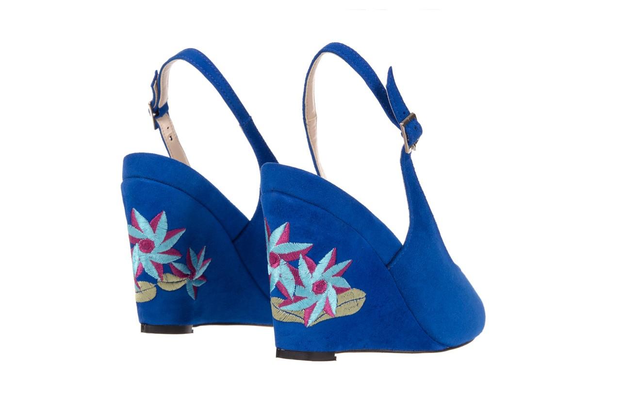 Sandały bayla-128 1995 956 niebieski, skóra naturalna  - bayla - nasze marki 9