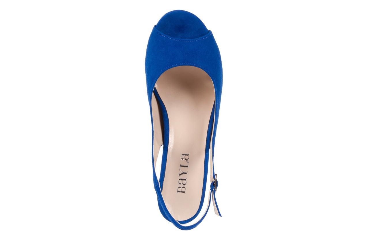 Sandały bayla-128 1995 956 niebieski, skóra naturalna  - bayla - nasze marki 10