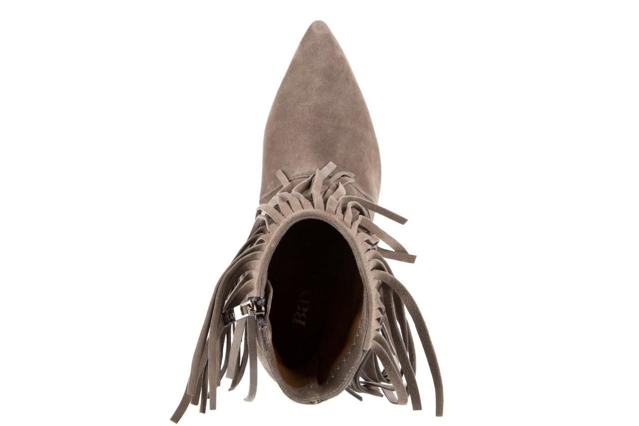 Botki bayla-128 2008-952 szary, skóra naturalna - na szpilce - botki - buty damskie - kobieta 10