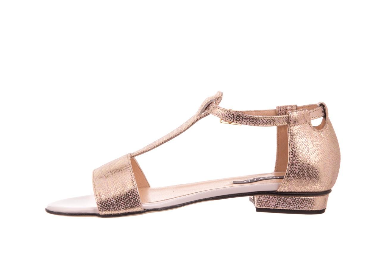 Sandały bayla-130 03876 0106-13 róż złocony 130023, skóra naturalna  - sandały - dla niej - dodatkowe -10% 8