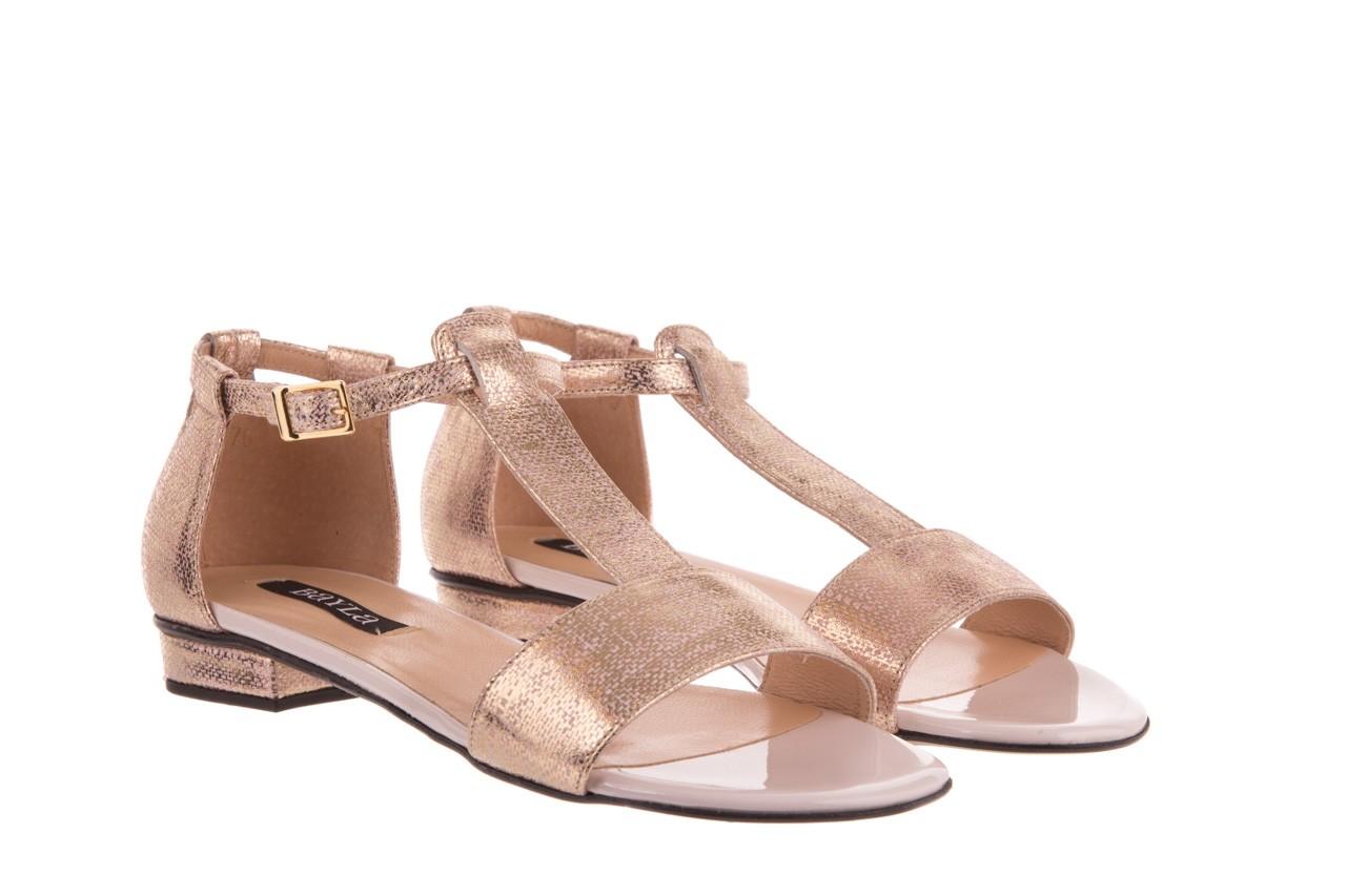 Sandały bayla-130 03876 0106-13 róż złocony 130023, skóra naturalna  - sandały - dla niej - dodatkowe -10% 6