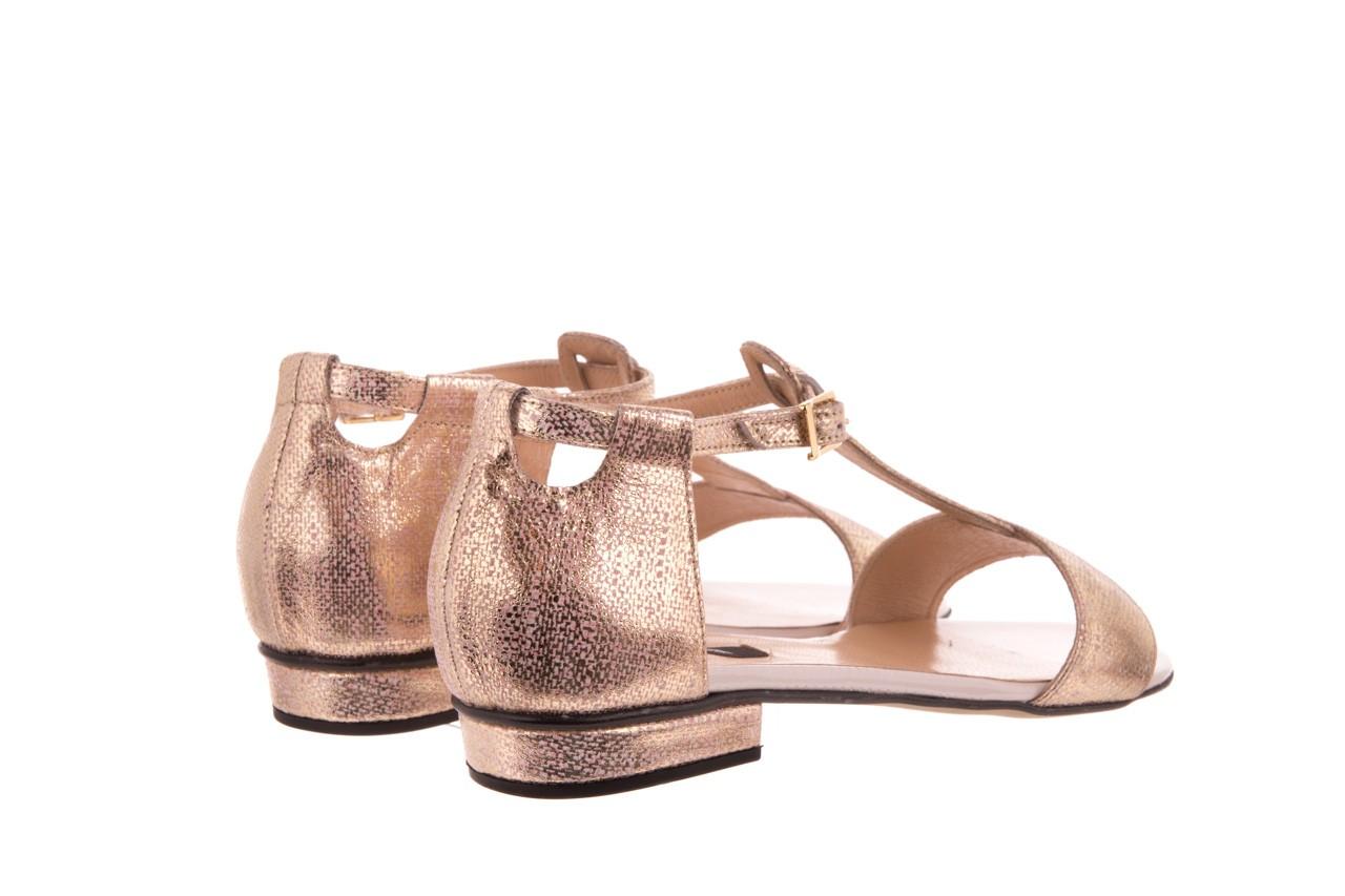 Sandały bayla-130 03876 0106-13 róż złocony 130023, skóra naturalna  - sandały - dla niej - dodatkowe -10% 7