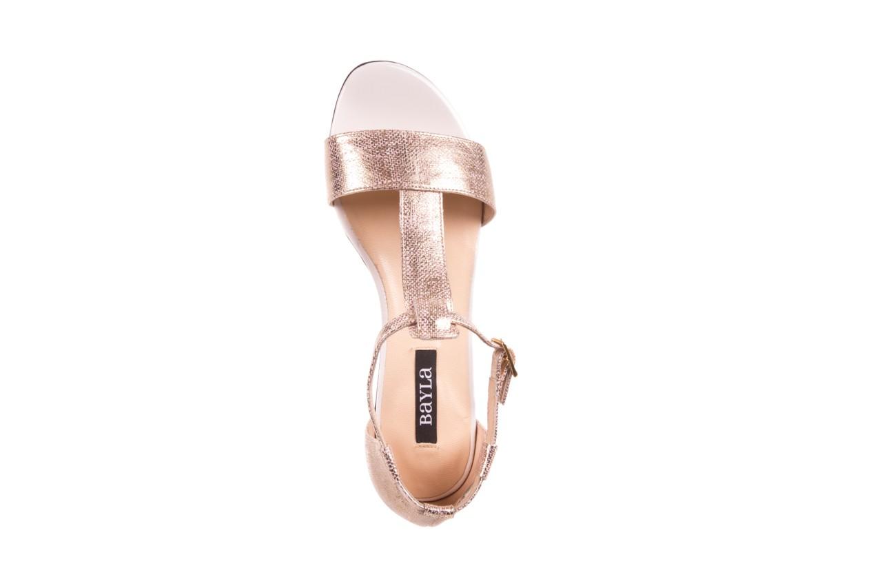 Sandały bayla-130 03876 0106-13 róż złocony 130023, skóra naturalna  - sandały - dla niej - dodatkowe -10% 9