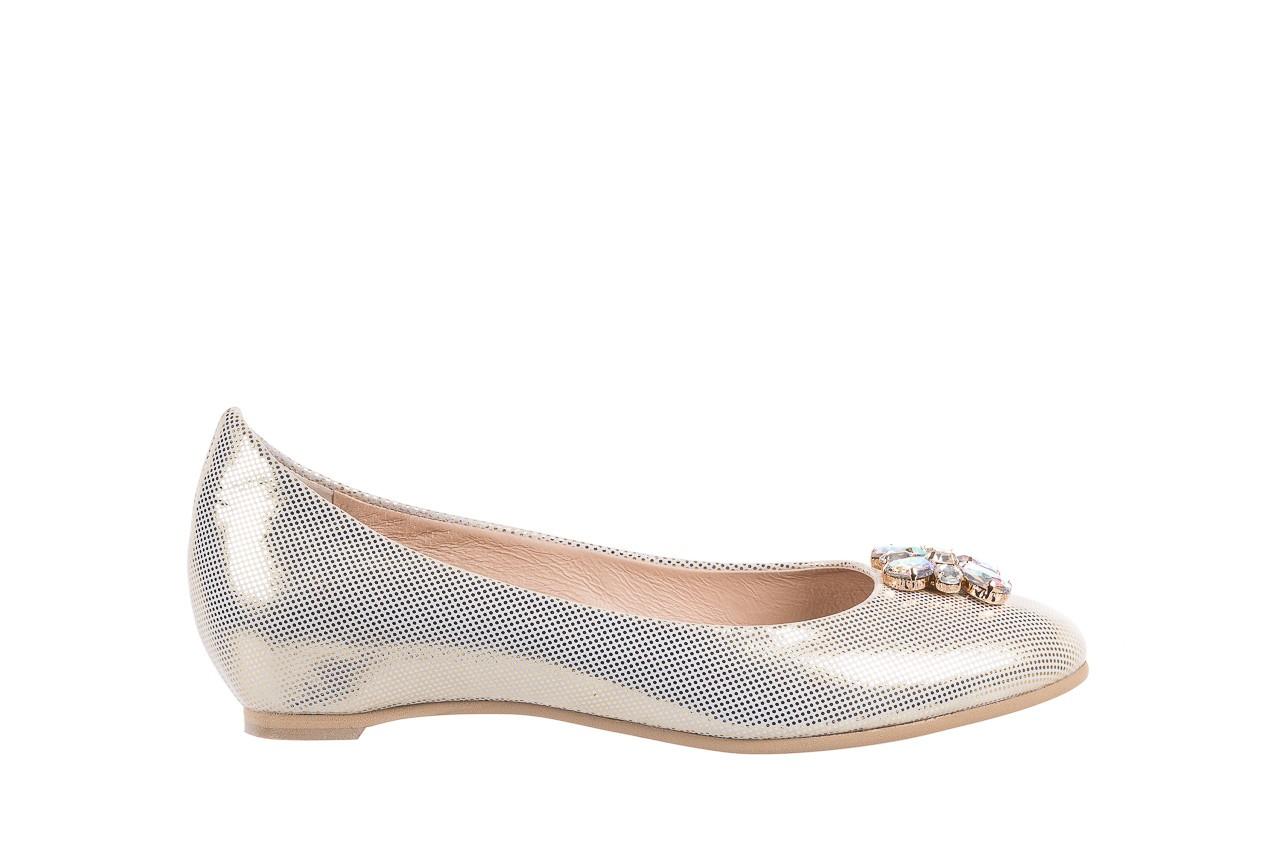 Baleriny bayla-130 04105-065w-02 złoty, skóra naturalna  - ślubne - baleriny - buty damskie - kobieta 6