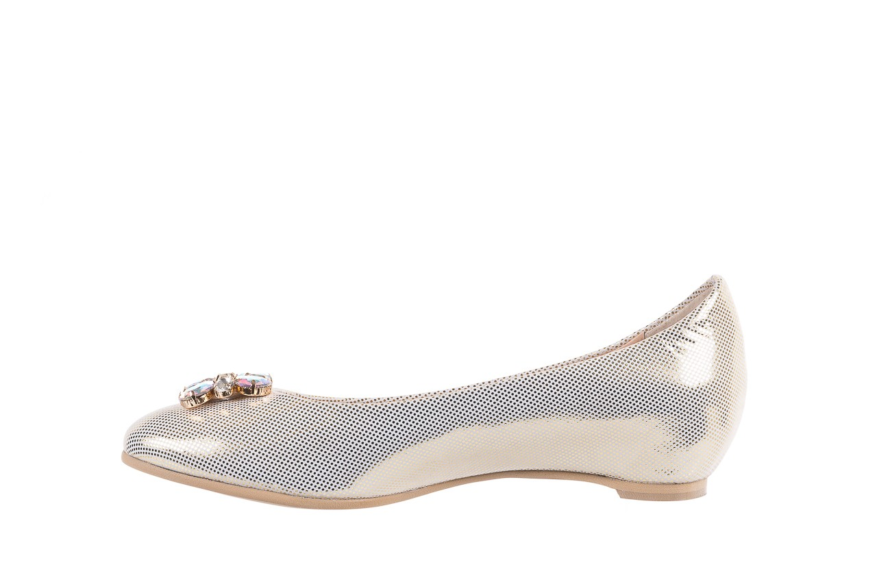 Baleriny bayla-130 04105-065w-02 złoty, skóra naturalna  - ślubne - baleriny - buty damskie - kobieta 8