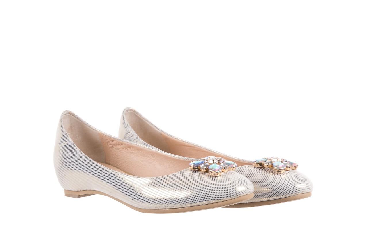 Baleriny bayla-130 04105-065w-02 złoty, skóra naturalna  - ślubne - baleriny - buty damskie - kobieta 7