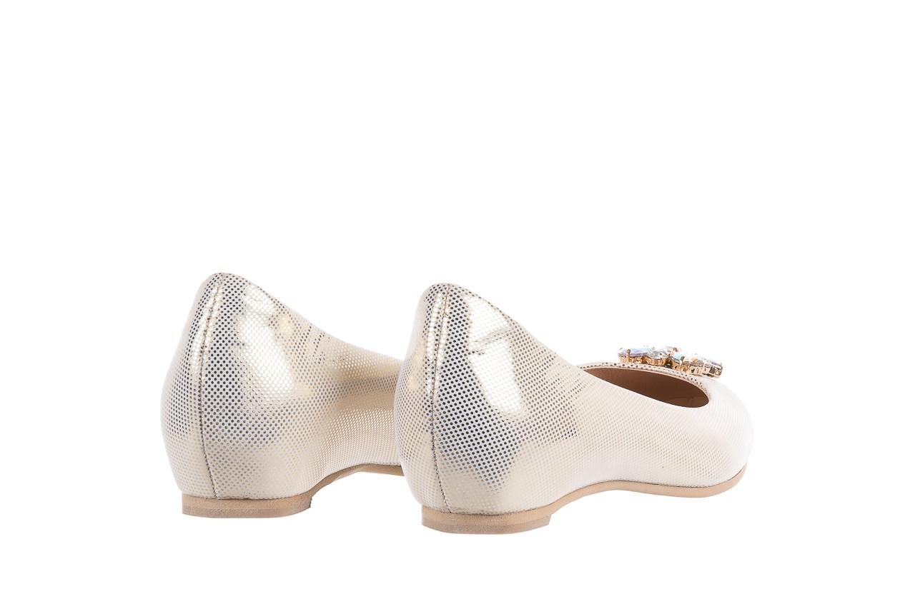Baleriny bayla-130 04105-065w-02 złoty, skóra naturalna  - ślubne - baleriny - buty damskie - kobieta 9