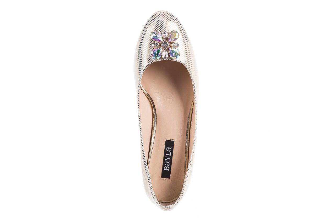 Baleriny bayla-130 04105-065w-02 złoty, skóra naturalna  - ślubne - baleriny - buty damskie - kobieta 10