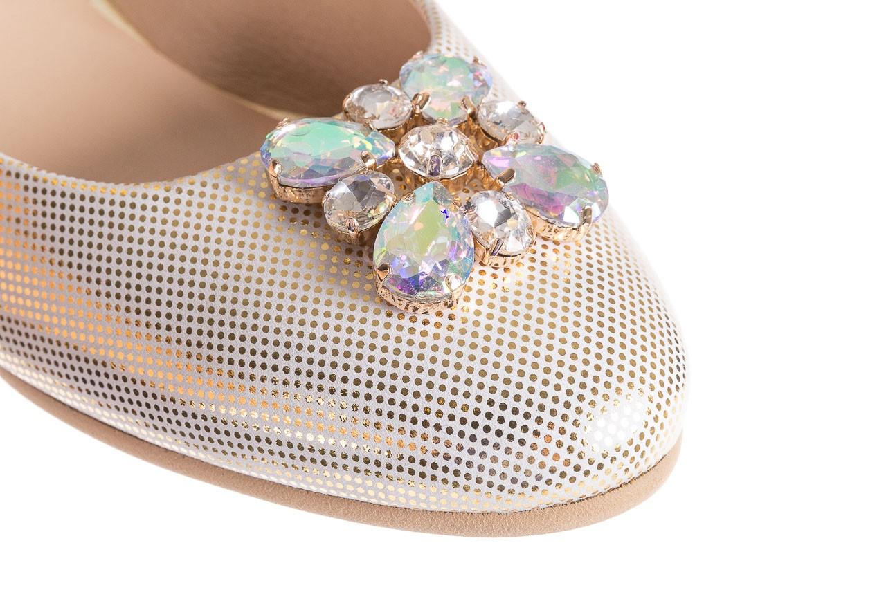 Baleriny bayla-130 04105-065w-02 złoty, skóra naturalna  - ślubne - baleriny - buty damskie - kobieta 11