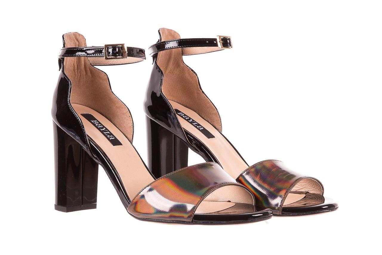 Sandały bayla-130 04322-0124-06 czarny l, skóra naturalna lakierowana  - bayla - nasze marki 8