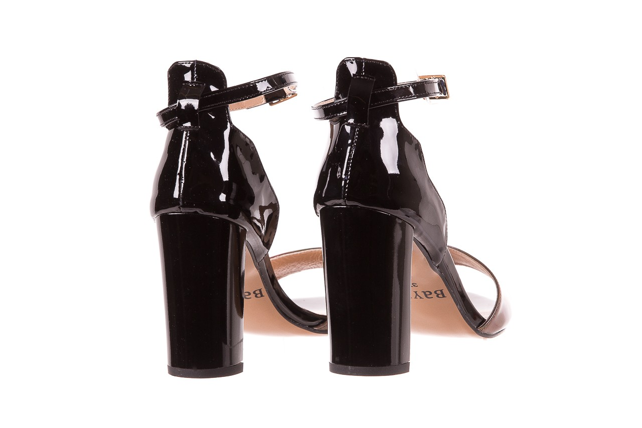 Sandały bayla-130 04322-0124-06 czarny l, skóra naturalna lakierowana  - bayla - nasze marki 10