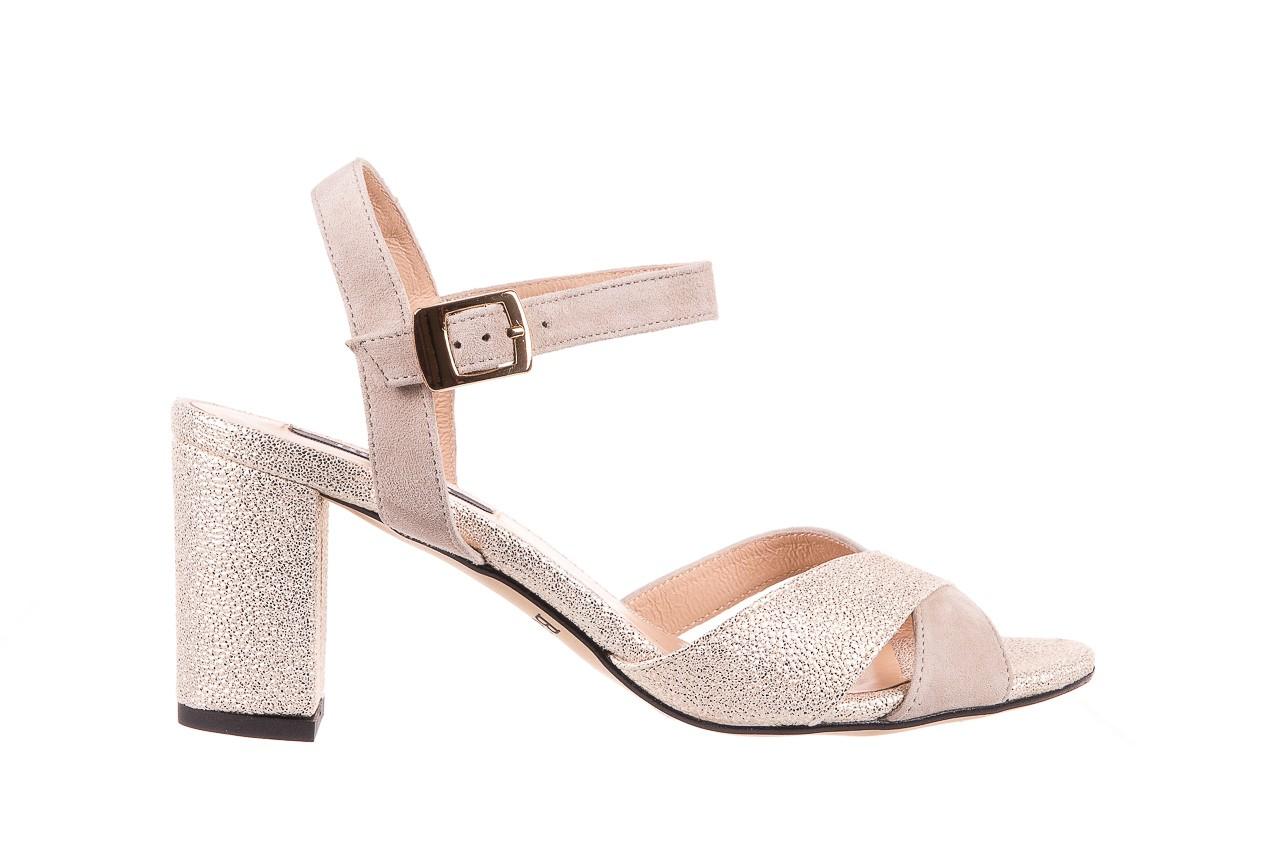 Sandały bayla-130 04347-0125-04 beż z, skóra naturalna  - sandały - dla niej - dodatkowe -10% 6