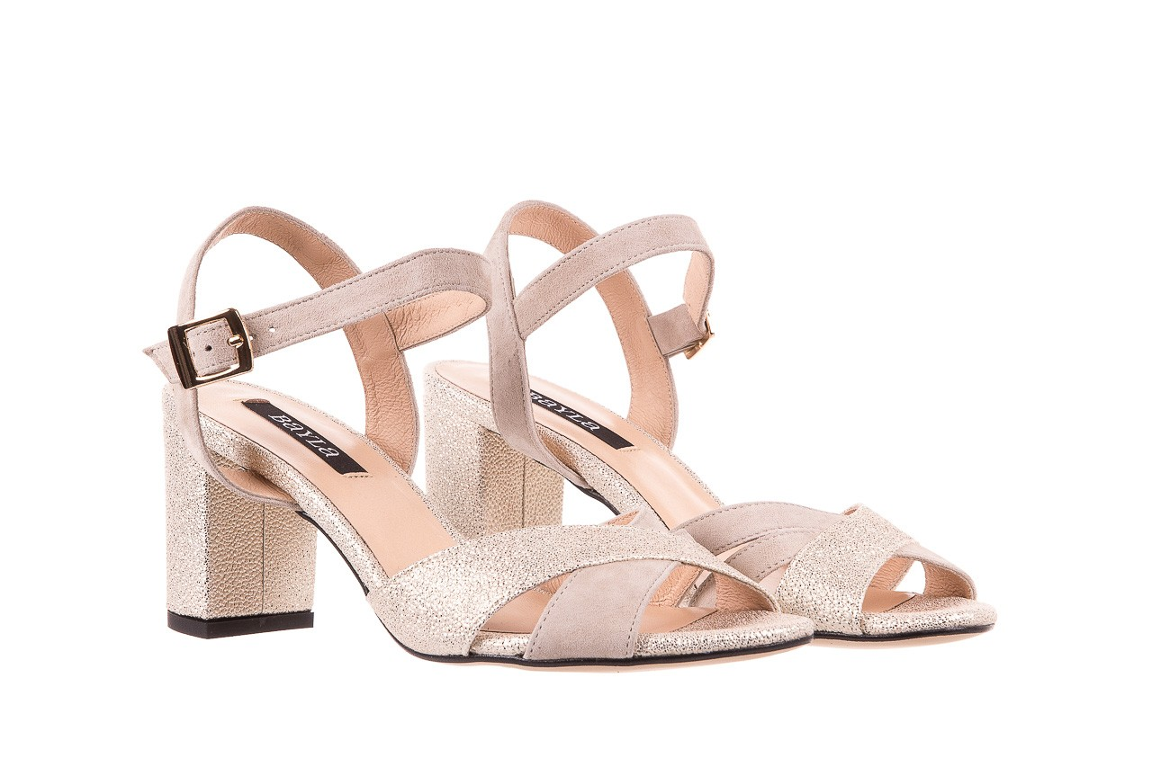Sandały bayla-130 04347-0125-04 beż z, skóra naturalna  - sandały - dla niej - dodatkowe -10% 7