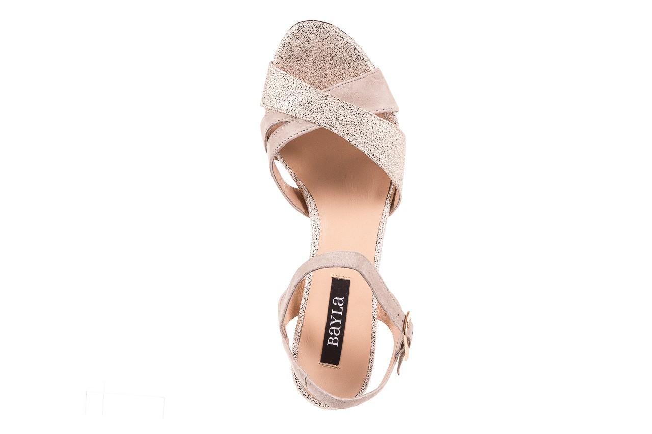 Sandały bayla-130 04347-0125-04 beż z, skóra naturalna  - sandały - dla niej - dodatkowe -10% 10