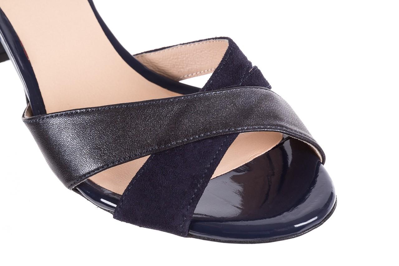 Sandały bayla-130 04347-0125-05 granat z, skóra naturalna  - sandały - dla niej - dodatkowe -10% 12