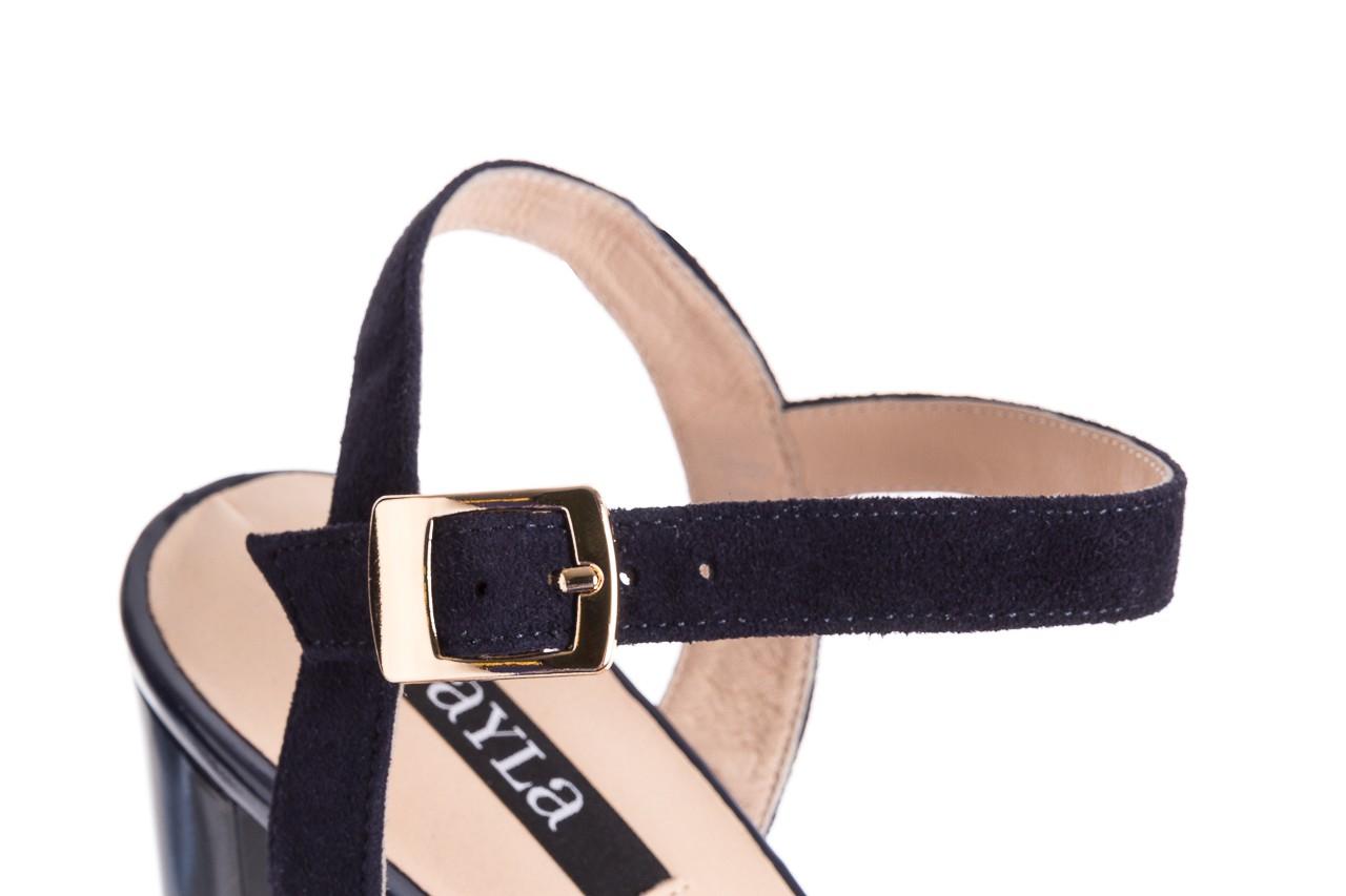 Sandały bayla-130 04347-0125-05 granat z, skóra naturalna  - sandały - dla niej - dodatkowe -10% 13