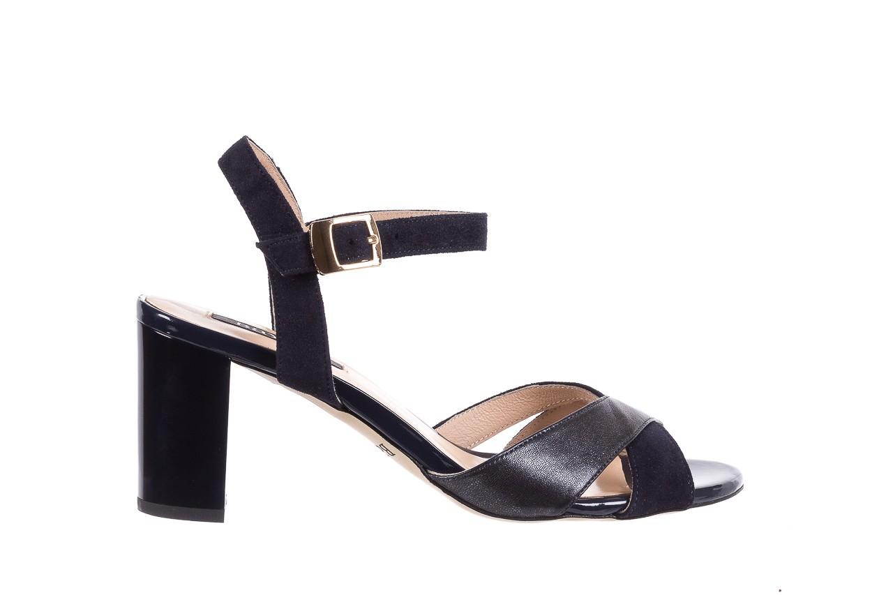 Sandały bayla-130 04347-0125-05 granat z, skóra naturalna  - sandały - dla niej - dodatkowe -10% 7