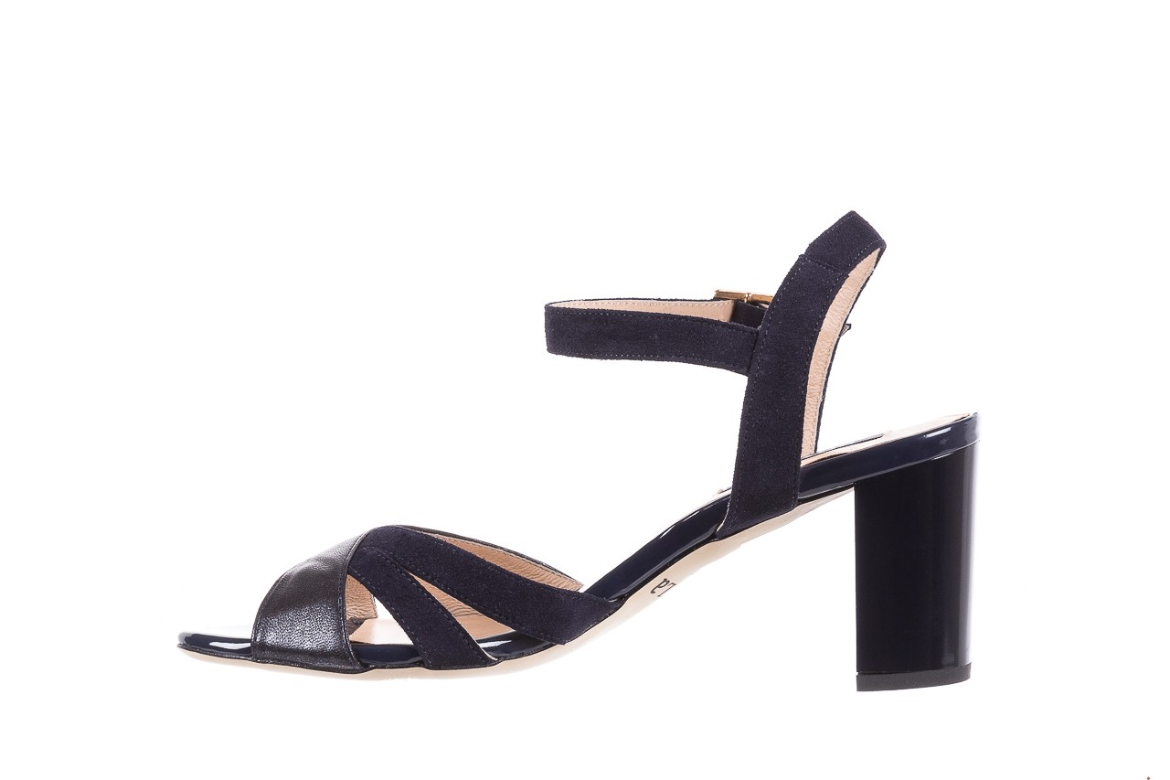Sandały bayla-130 04347-0125-05 granat z, skóra naturalna  - sandały - dla niej - dodatkowe -10% 9