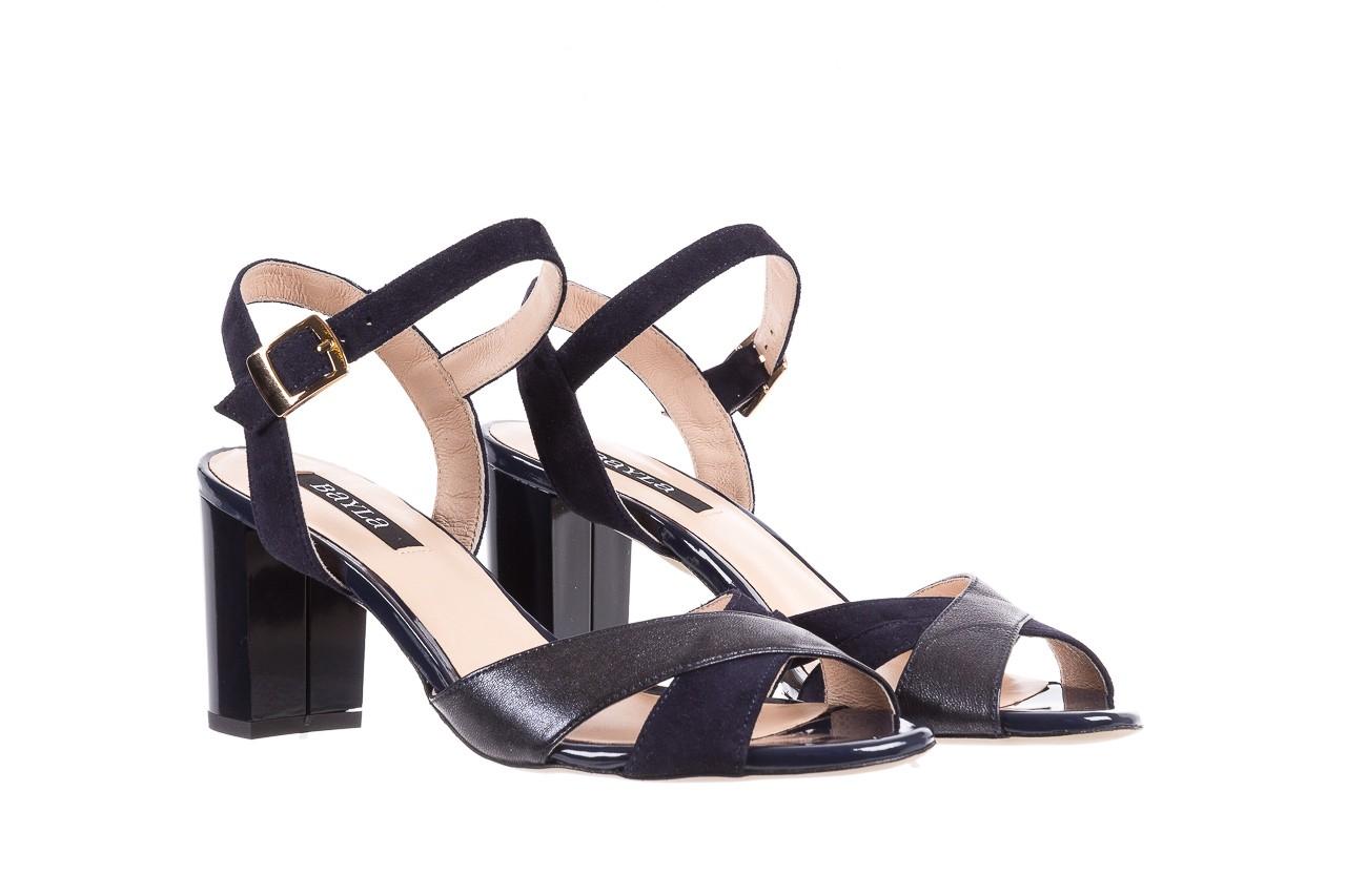 Sandały bayla-130 04347-0125-05 granat z, skóra naturalna  - sandały - dla niej - dodatkowe -10% 8
