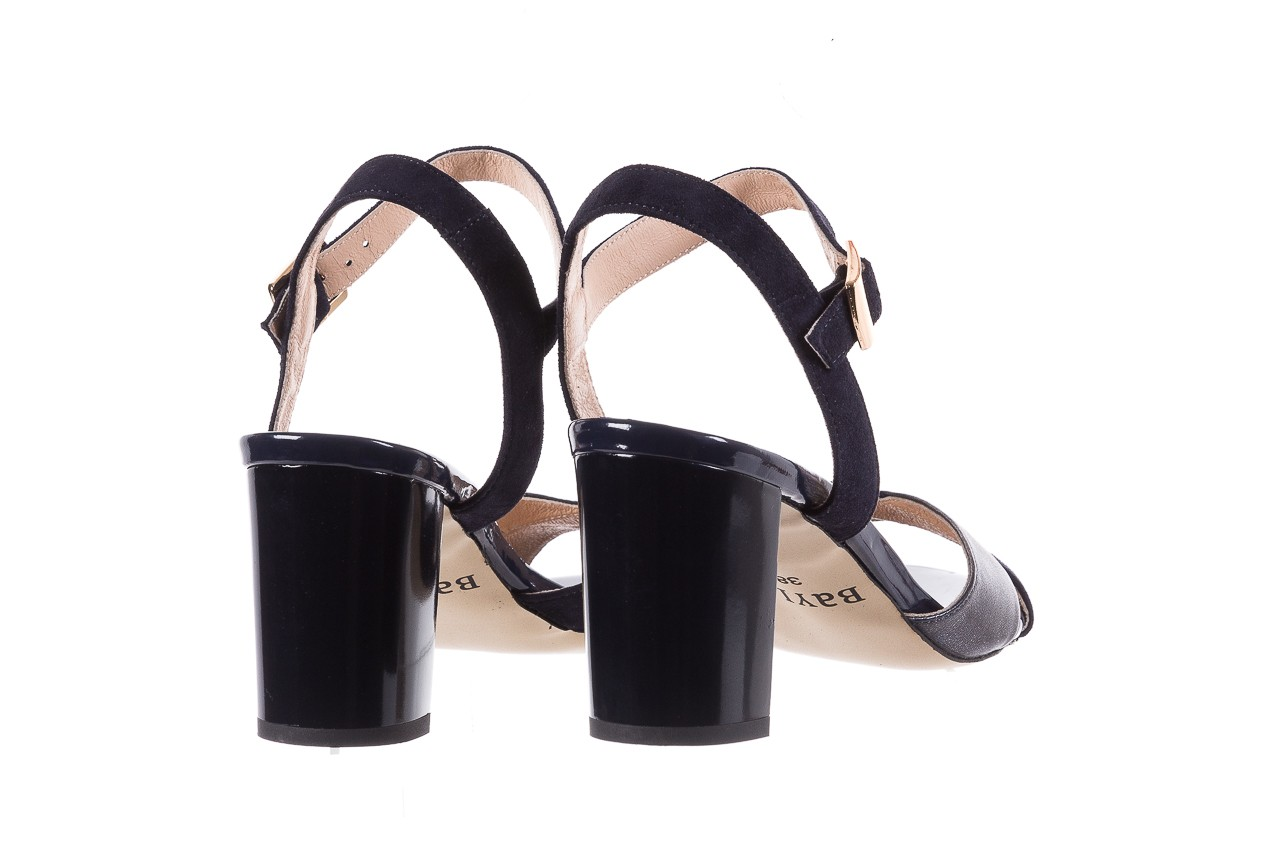 Sandały bayla-130 04347-0125-05 granat z, skóra naturalna  - sandały - dla niej - dodatkowe -10% 10