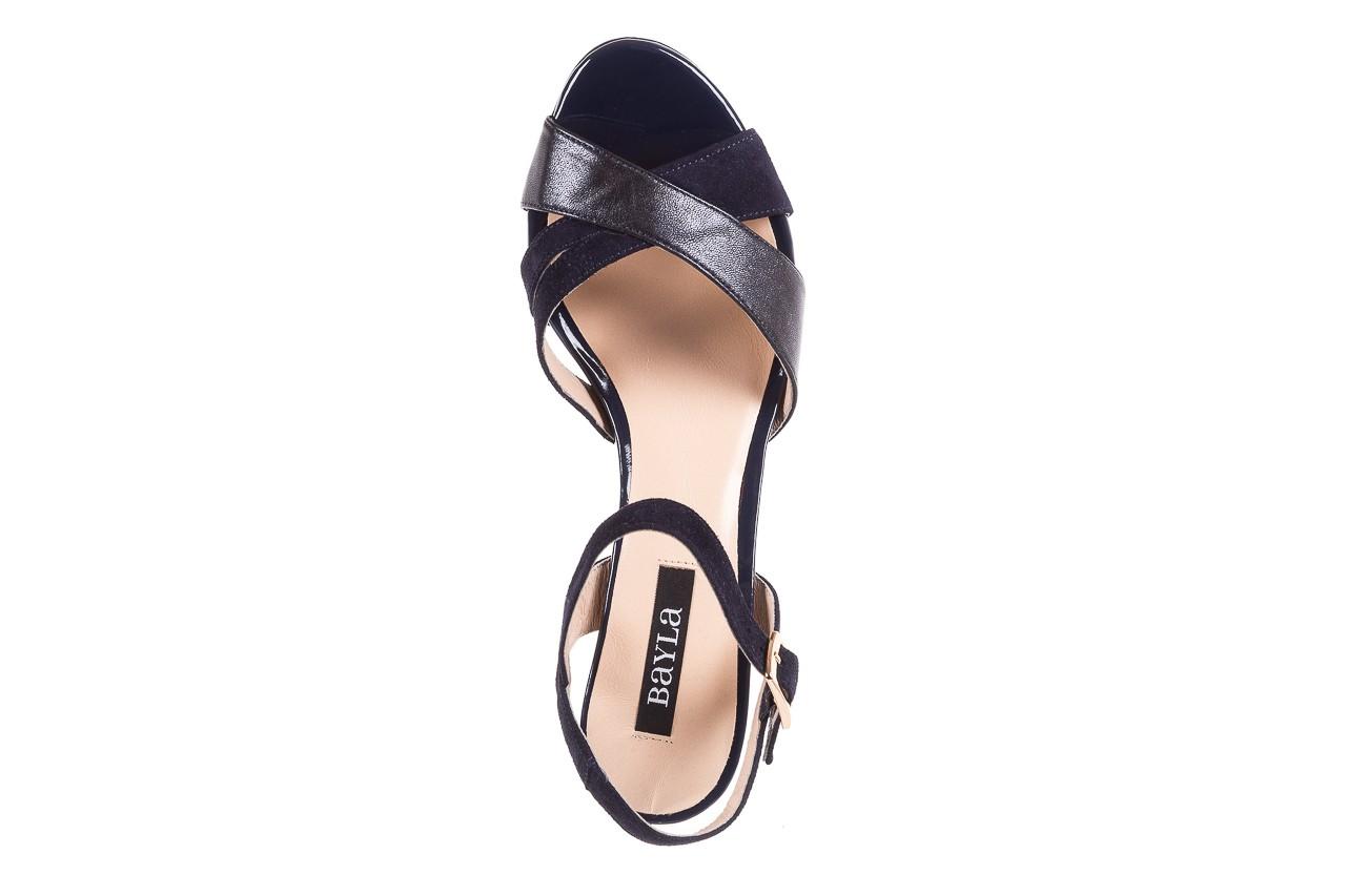 Sandały bayla-130 04347-0125-05 granat z, skóra naturalna  - sandały - dla niej - dodatkowe -10% 11