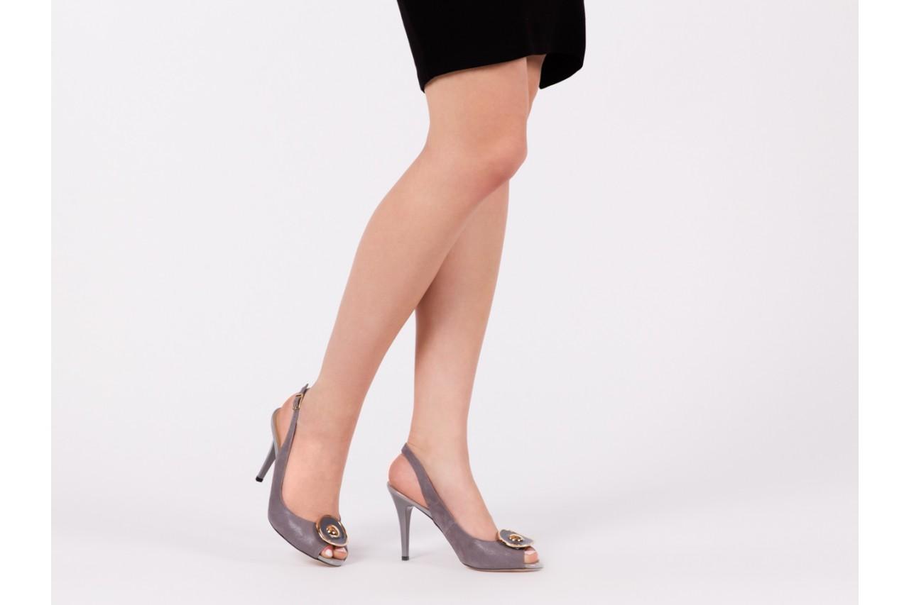 Sandały bayla-130 3899-092-910 popiel, skóra naturalna  - bayla - nasze marki 13