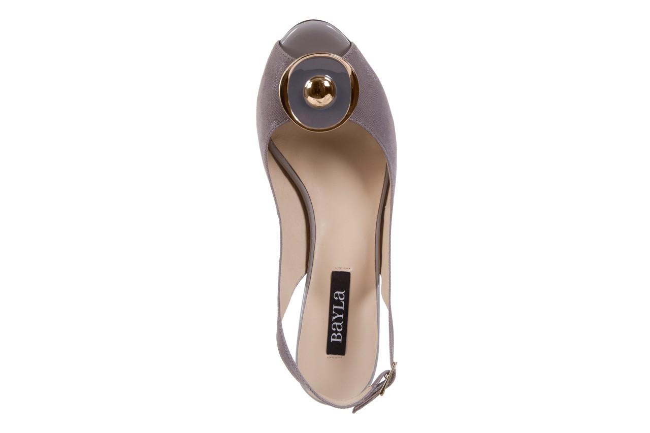 Sandały bayla-130 3899-092-910 popiel, skóra naturalna  - bayla - nasze marki 11
