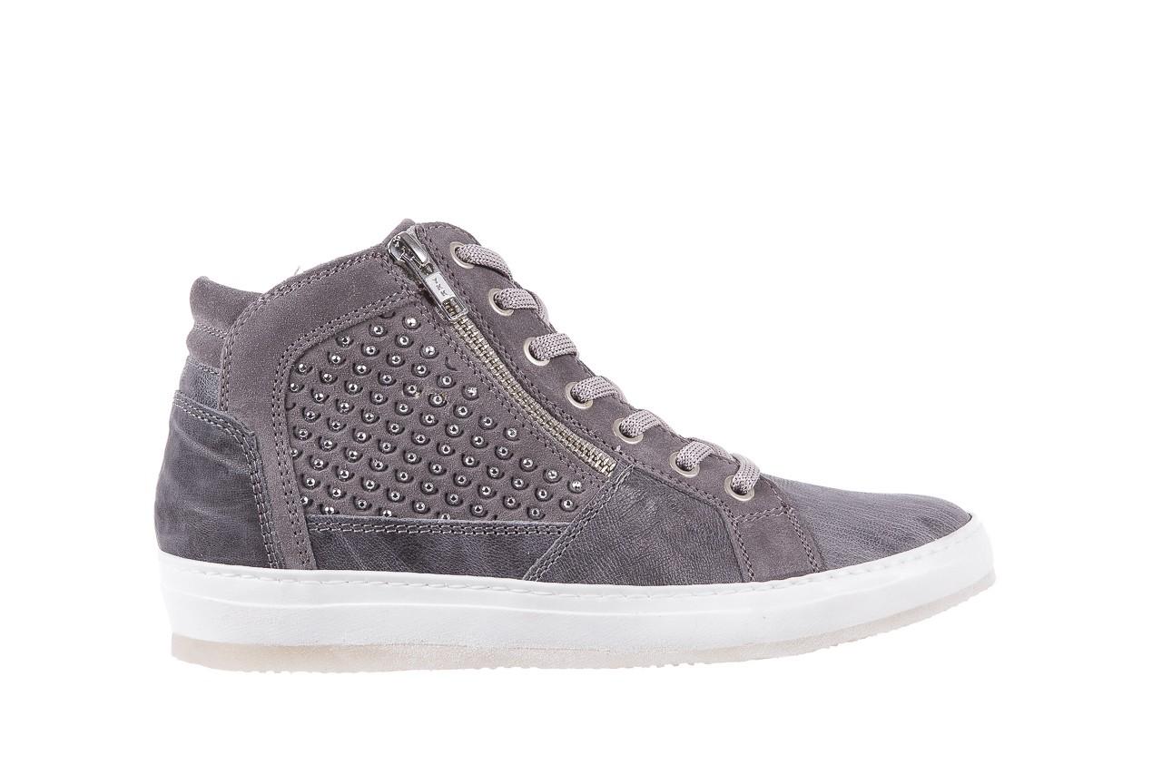 Sneakersy bayla-131 1202 grigio, szary, skóra naturalna - mid season sale -30% 6