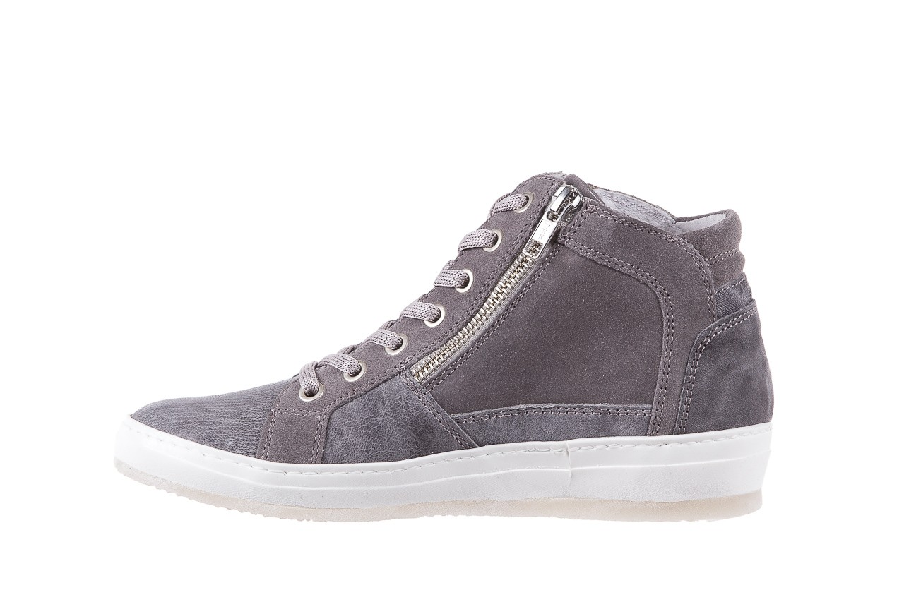 Sneakersy bayla-131 1202 grigio, szary, skóra naturalna - mid season sale -30% 8