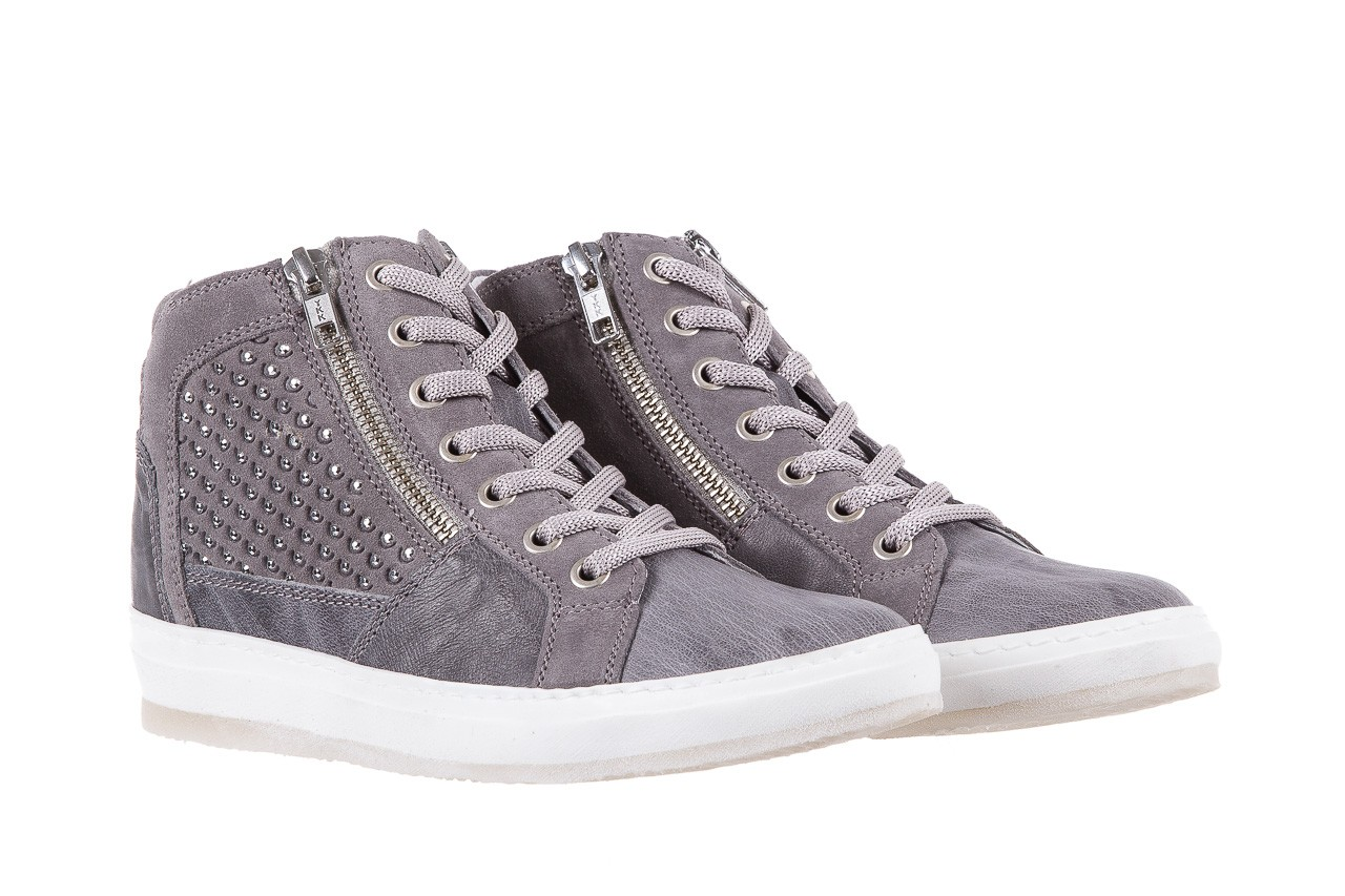 Sneakersy bayla-131 1202 grigio, szary, skóra naturalna - mid season sale -30% 7